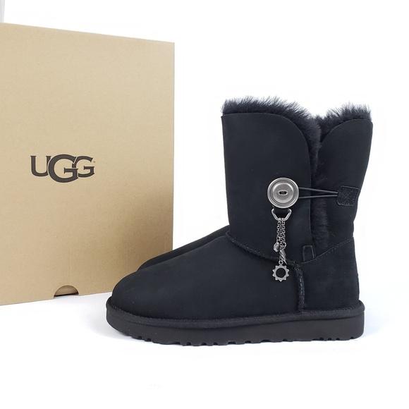 61697d5df78 NEW!! UGG Black Azalea Charm Boots NWT